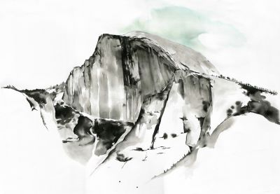 Half Dome in ink