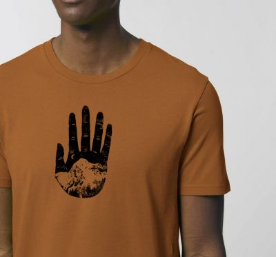 Mens' tshirt - mountain hand