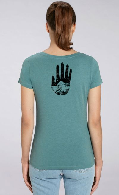 Women's mountain hand tshirt